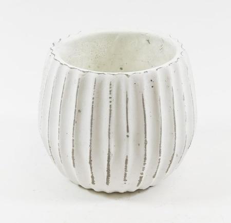 [Doniczki ceramiczne]Donica Ryflowana Taras H:12cm