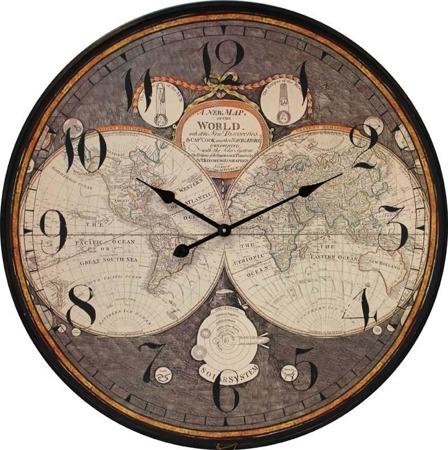 Zegar wiszący Kontynenty 80x80 CM