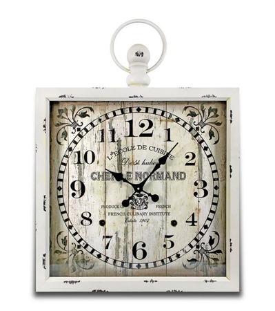 Zegar wiszący retro duży 81x60x6