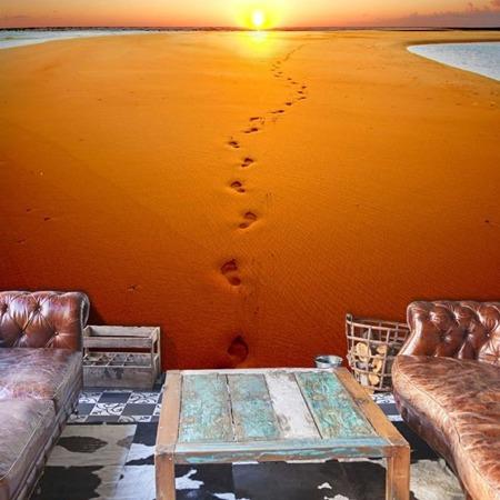Fototapeta - Ślady stóp na piasku