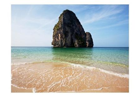 Fototapeta - Rock formation by shoreline, Andaman Sea, Thailand