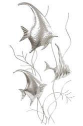 Dekoracja Ścienna Ryby Srebrne H: 83,5cm
