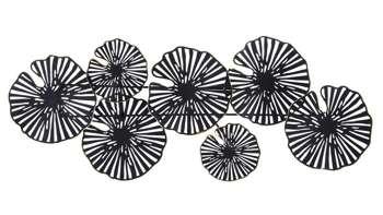 Dekoracja Ścienna metalowa czarna H: 44 cm