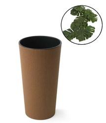 Doniczka z wkładem Lilia Drewno Eco H:36 cm 19x19