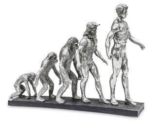 "Figura ""Ewolucja"" Srebrna Bond Podstawa 43x55cm"