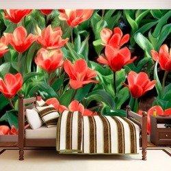 Fototapeta - Painted flowers