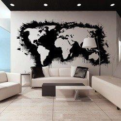 Fototapeta XXL - Białe kontynenty, czarne oceany...
