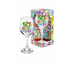 Kieliszek do wina 220 ml  literki na 50 urodziny