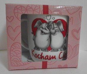 Kubek Ceramiczny Zakochane Słonie 330ml Walentynki