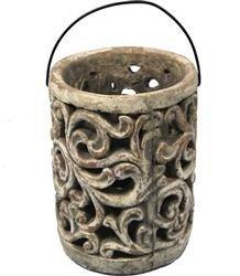 Lampion Ceramiczny Gaja Ozdobny H:19,5cm