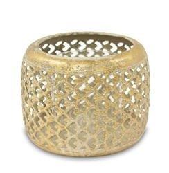 Lampion Metalowy ozdobny złoty