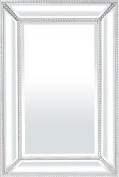 Lustro Lustrzana Rama Srebrna Nowoczesna  60x40cm