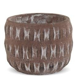 Mała Cementowa Osłonka, Kolor: Terrakota, h:10cm