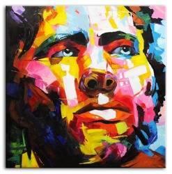 Obraz - Abstrakcje - olejny, ręcznie malowany 100x100