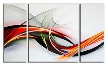 Obraz - Abstrakcje - olejny, ręcznie malowany 60x70cm+ 20x60cmx2