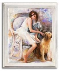 """Obraz """"Akty"""" ręcznie malowany 54x64cm"""