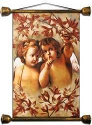 Obraz - Anioły - olejny, ręcznie malowany 55x68cm