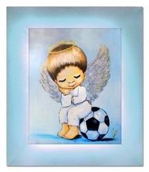 """Obraz """"Anioły"""" ręcznie malowany 29x34cm"""