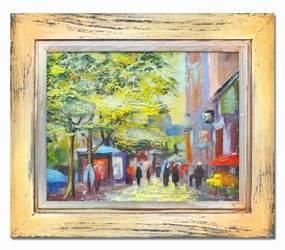 Obraz - Architektura - olejny, ręcznie malowany 35x40cm