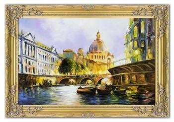 Obraz - Architektura - olejny, ręcznie malowany 77x107cm