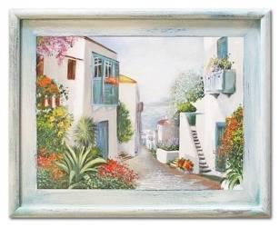 """Obraz """"Architektura"""" ręcznie malowany 37x47cm"""