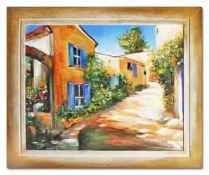 """Obraz """"Architektura"""" ręcznie malowany 53x64cm"""