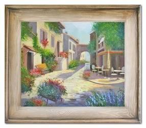 """Obraz """"Architektura"""" ręcznie malowany 61x71cm"""