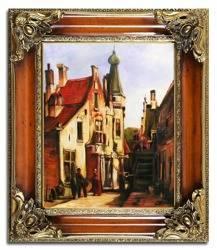 """Obraz """"Architektura"""" ręcznie malowany 65x75cm"""