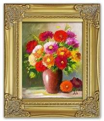 Obraz - Bukiety mieszane  - olejny, ręcznie malowany 27x32cm