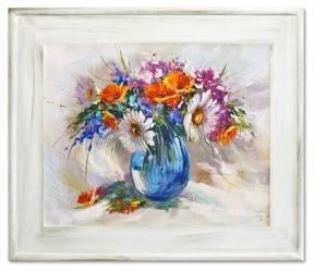 """Obraz """"Bukiety mieszane """" ręcznie malowany 61x71cm"""