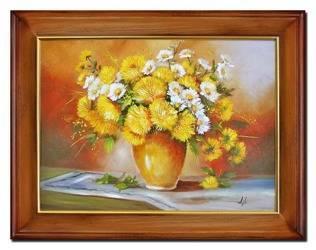 """Obraz """"Bukiety mieszane """" ręcznie malowany 63x84cm"""