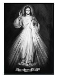 """Obraz """"Chrystus"""" ręcznie malowany 53x73cm"""