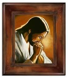 """Obraz """"Chrystus"""" ręcznie malowany 61x71cm"""