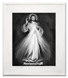 """Obraz """"Chrystus"""" ręcznie malowany 72x92cm"""