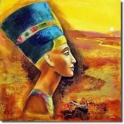 Obraz - Egipt - olejny, ręcznie malowany 60x60cm