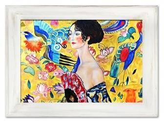 """Obraz """"Gustaw Klimt"""" ręcznie malowany 82x112cm"""