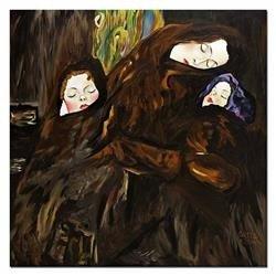 """Obraz """"Gustaw Klimt"""" ręcznie malowany 90x90cm"""