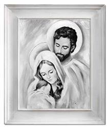 """Obraz """"Inne- religijne"""" ręcznie malowany 56x66cm"""