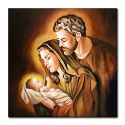 """Obraz """"Inne- religijne"""" ręcznie malowany 60x60cm"""