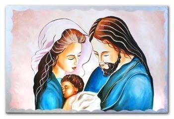 """Obraz """"Inne- religijne"""" ręcznie malowany 60x90cm"""