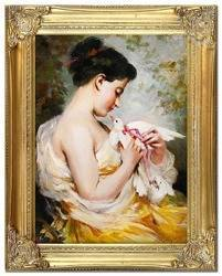 """Obraz """"Inni"""" ręcznie malowany 37x47cm"""