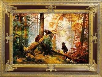 """Obraz """"Iwan Iwanowicz Szyszkin """" ręcznie malowany 90x120cm"""