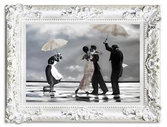 """Obraz """"Jack Vettriano"""" ręcznie malowany 85x115cm"""