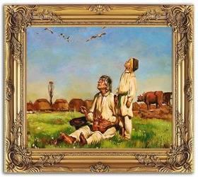 Obraz - Józef Chełmoński - olejny, ręcznie malowany 53x64cm