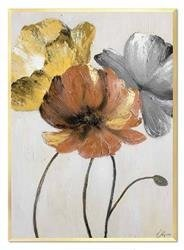 """Obraz """"Kwiaty nowoczesne"""" ręcznie malowany 53x73cm"""