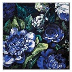 """Obraz """"Kwiaty nowoczesne"""" ręcznie malowany 60x60cm"""