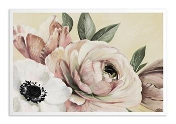 """Obraz """"Kwiaty nowoczesne"""" ręcznie malowany 63x93 cm"""