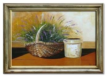 Obraz - Lawenda. - olejny, ręcznie malowany 75x105cm