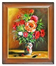 """Obraz """"Maki"""" ręcznie malowany 53x64cm"""