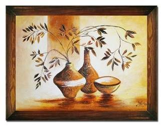 """Obraz """"Martwa natura nowoczesna"""" ręcznie malowany 63x84cm"""
